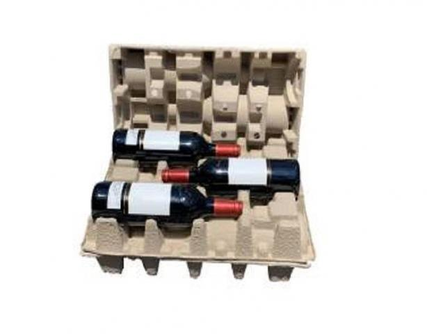 Pulp Bottle Shippers, Custom Molded Pulp Packaging