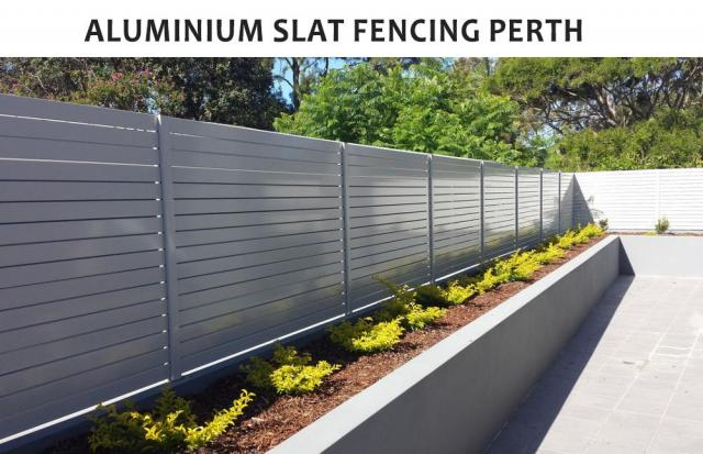 Why get the aluminum slat fencing perth installed by us?