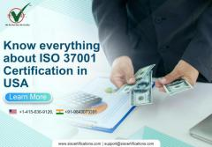 HOW CAN YOU GET ISO 37001 CERTIFICATION USA