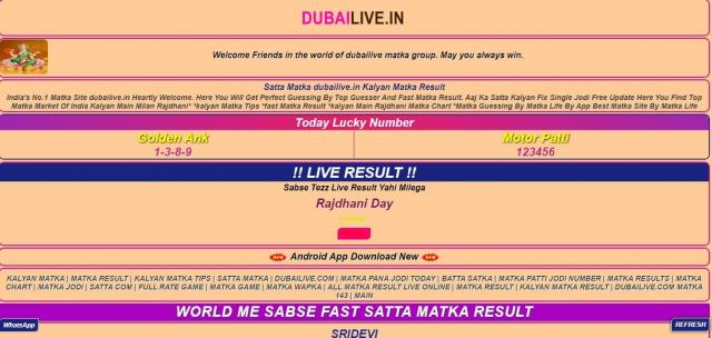 Exclusive Online Satta Results by Dubailive.