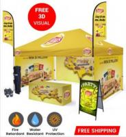 Best Quality 10x15 Custom Pop Up Tents with Full Printed Graphics