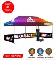 Create Amazing 10x20 Custom Canopy Tent with Full Printed Graphics