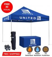Show Up Your Next Your Trade Show With Branded 10x10 Tents | USA