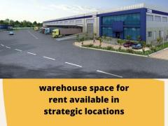 Warehouse space for rent available in strategic locations