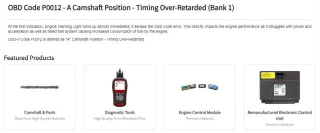 Parts Avatar Gives You Solution Of OBD Code P0012  , Car