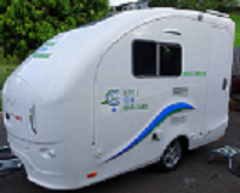 Lightweight caravans with shower and toilet