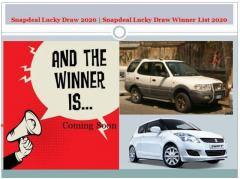 Snapdeal Lucky Draw 2020