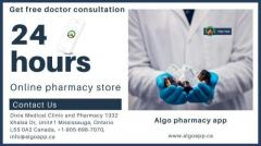 24 hours of an online pharmacy store and free consultation.