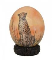 Ostrich eggs painting from South Africa