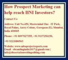 How Prospect Marketing can help reach HNI Investors?
