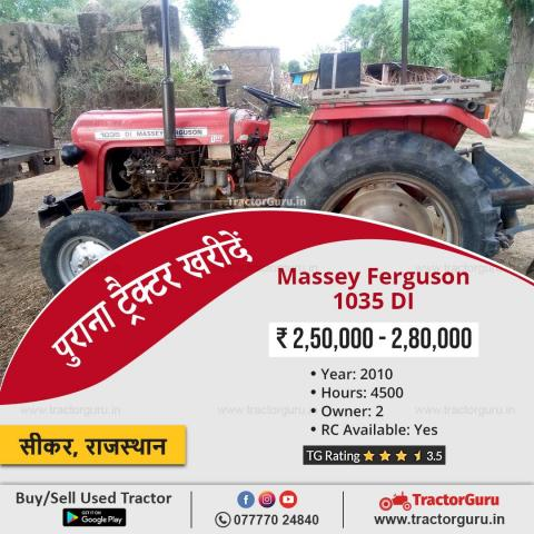 Get Old Tractors Price In India