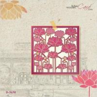 Lotus Theme Wedding Invitation Cards