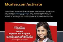 Download, install, and activate McAfee Product