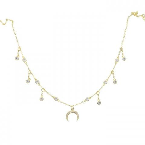 LÉA GOLD CHARMS NECKLACE