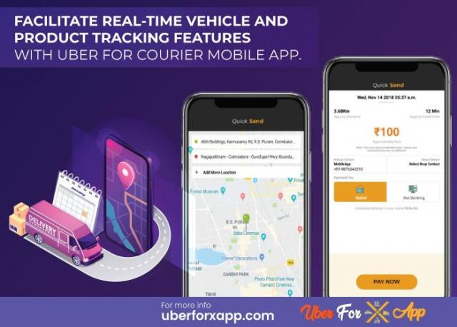 Uber for Courier Clone App with multiple languages