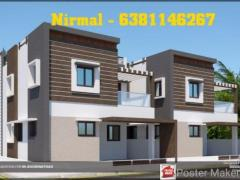 West Facing New 3Bhk tHouse for sale in cheranmaa nagar