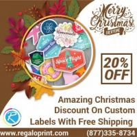 20% Christmas Discount On Customized Labels