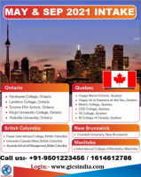 Apply study visa for Canada for 2021 intakes.