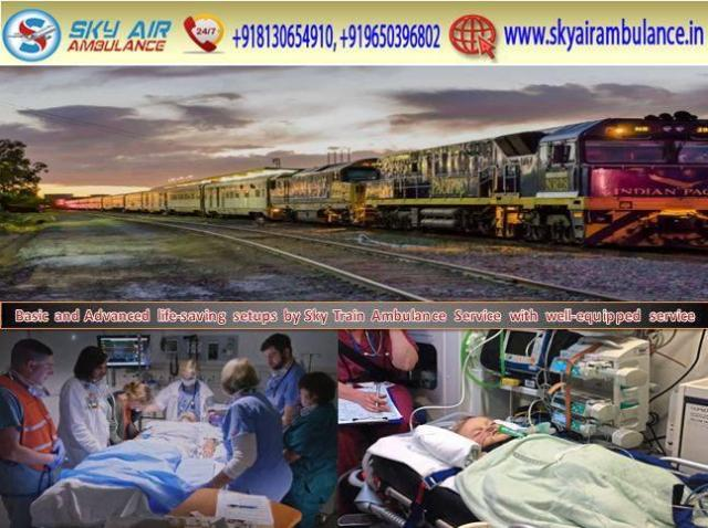 Serious Patient Shifting from Kolkata by Sky Train Ambulance