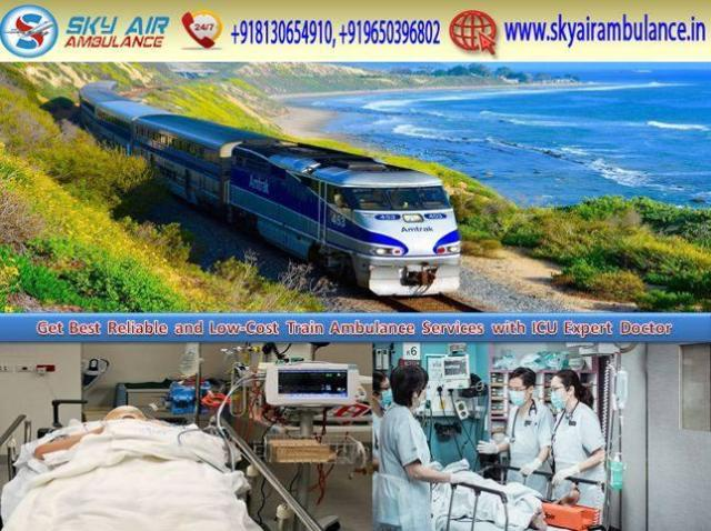 Low-Cost Train Ambulance Service in Guwahati by Sky