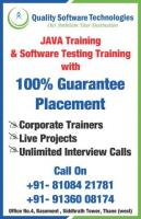 Quality Software Technologies - ST, JAVA, Training-Placement