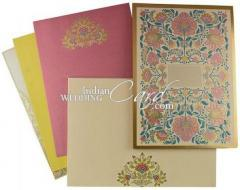 Floral Theme Wedding Invitation Cards